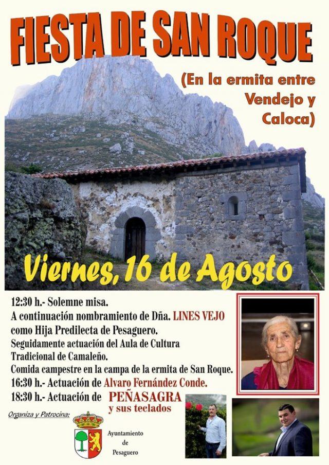 CALOCA-VENDJO: FIESTA DE SAN ROQUE, VIERNES 16 DE AGOSTO